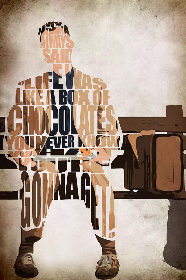 Joker Quotes Wallpaper Hd Forrest Gump Tom Hanks Painting By Ayse And Deniz