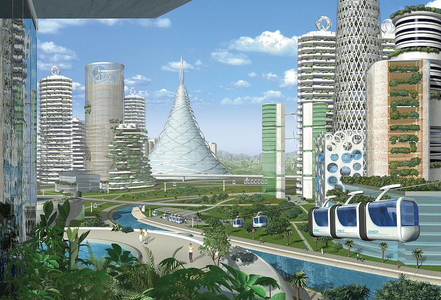 3d Wallpaper Online Shopping India Futuristic Eco City Conceptual Image Photograph By
