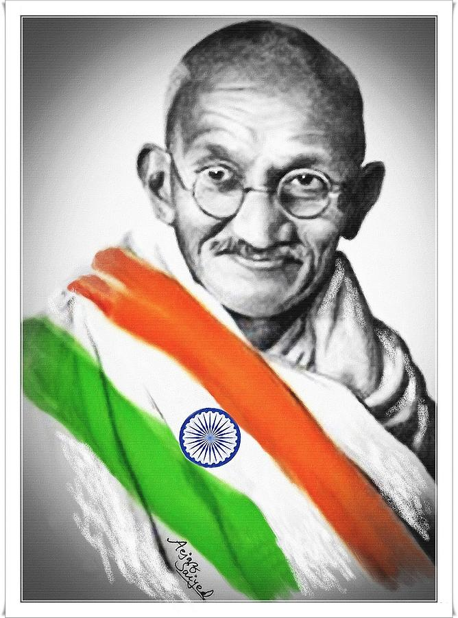 Gandhi Wallpapers With Quotes Gandhiji Digital Art By Aejaz Saiyed