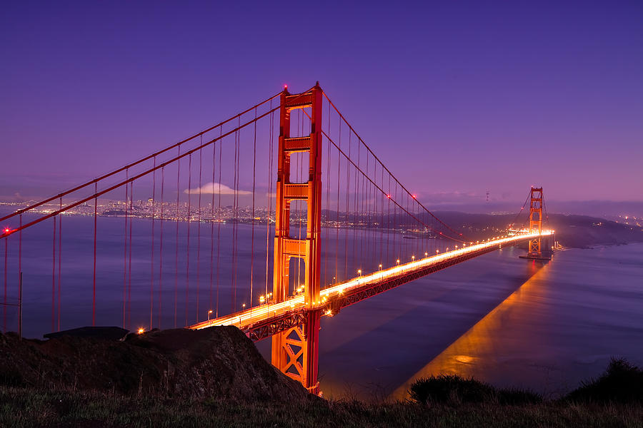 San Francisco Bridge Hd Wallpaper Golden Gate Bridge Sunset Photograph By Chris Moore