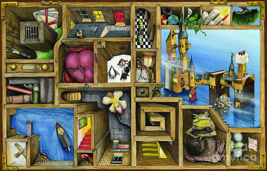 Bookshelf Iphone Wallpaper Grandma S Treasure Digital Art By Colin Thompson
