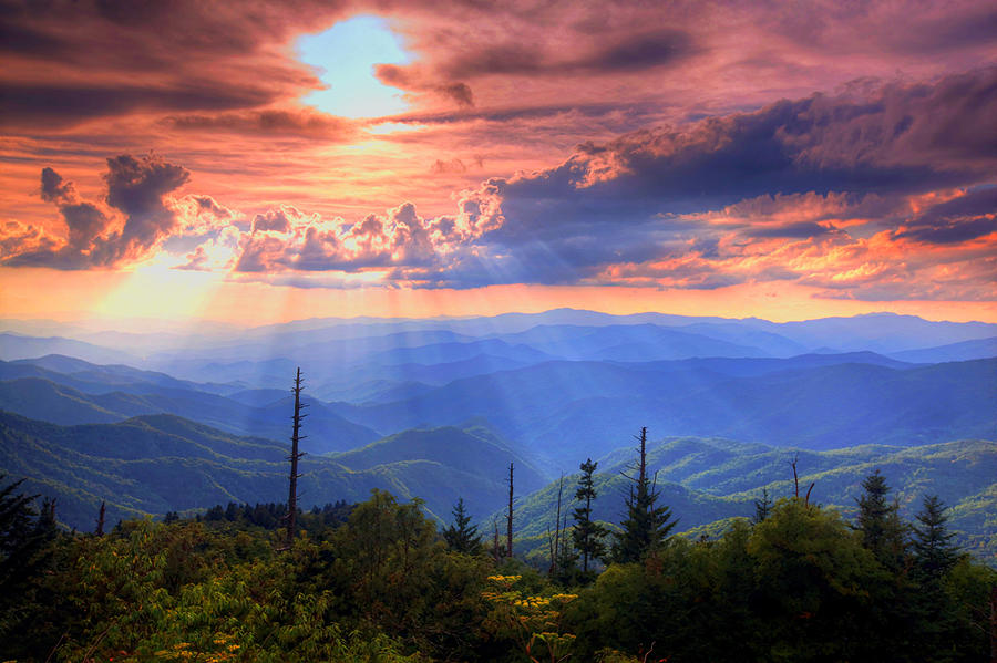 Free Fall Wallpaper Apps Great Smoky Mountains Photograph By Doug Mcpherson