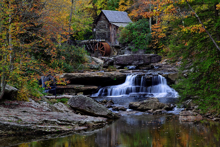 West Virginia Iphone Wallpaper Grist Mill Falls Photograph By Lone Dakota Photography