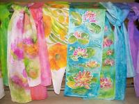 Hand-painted Silk Scarves Painting by Shan Ungar