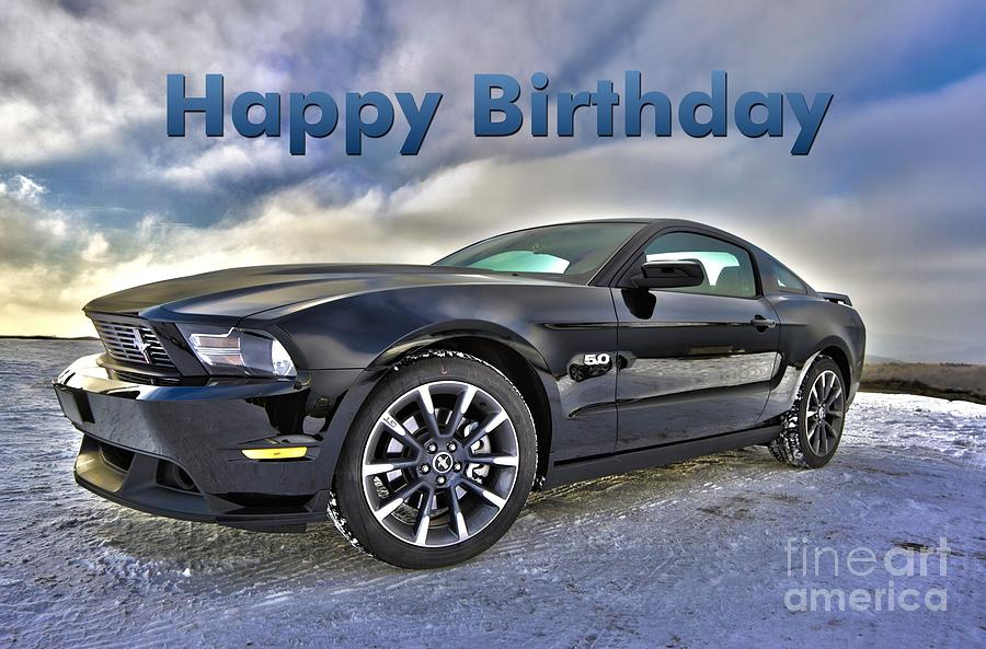 Fast And Furious 4 Cars Wallpapers Happy Birthday Mustang Digital Art By Jh Designs