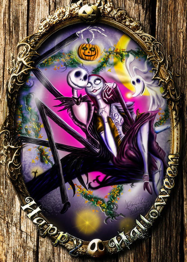 Jack Skellington Iphone Wallpaper Happy Halloween Iii Digital Art By Alessandro Della Pietra