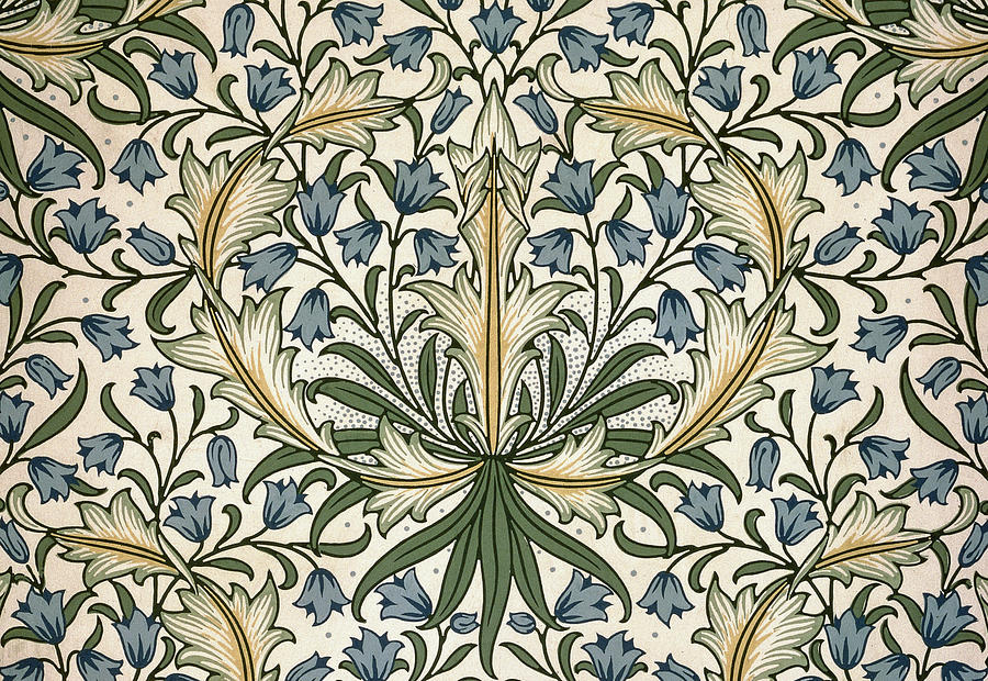 Harebell Design 1911 Tapestry Textile By William Morris