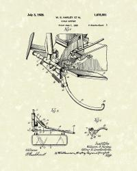 Harley Support 1928 Patent Art Drawing by Prior Art Design