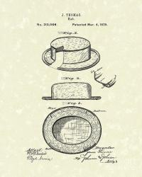 Hat 1879 Patent Art Drawing by Prior Art Design
