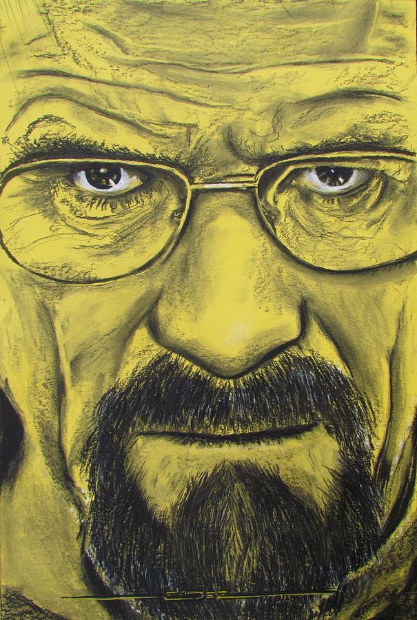 Walter White Iphone 5 Wallpaper Heisenberg Breaking Bad Drawing By Eric Dee