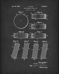 Hockey Puck Patent Art Black Drawing by Prior Art Design