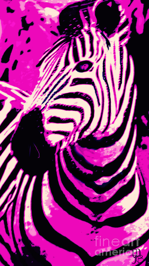 Animal Print Iphone 5 Wallpaper Hot Pink Zebra Digital Art By Mindy Bench