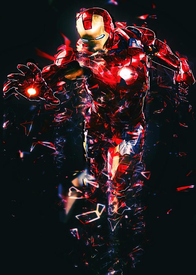 Inside Iphone X Wallpaper Iron Man Fractal Digital Art By Renato Armignacco