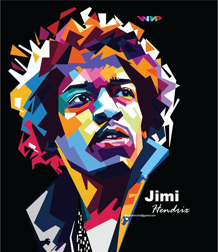 The Beatles Iphone 5 Wallpaper Jimi Hendrix In Wpap Digital Art By Dicky Fakhrurizart