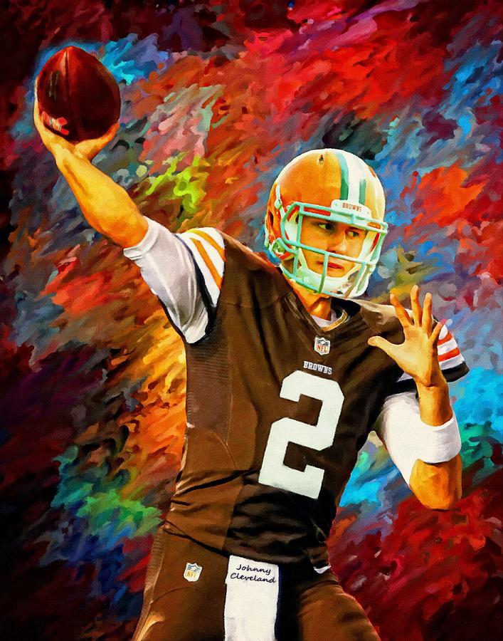 Clemson Tigers Iphone Wallpaper Johnny Manziel Cleveland Browns Football Art Painting