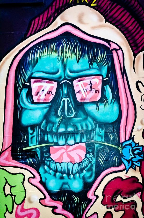 Acid Iphone Wallpaper Jolly Hallucinogenic Skull Graffiti Painting By Yurix