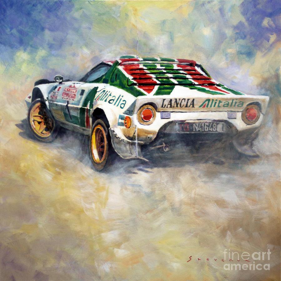 Iphone X Blueprint Wallpaper Lancia Stratos 1976 Rallye Sanremo Painting By Yuriy Shevchuk
