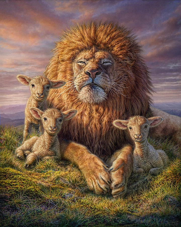 Powerful Quotes Phone Wallpaper Lion And Lambs Mixed Media By Phil Jaeger
