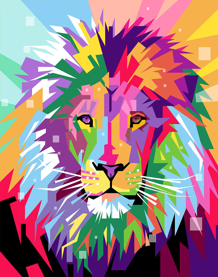 Lion Animal Wallpaper Lion Pop Art Digital Art By Ahmad Nusyirwan