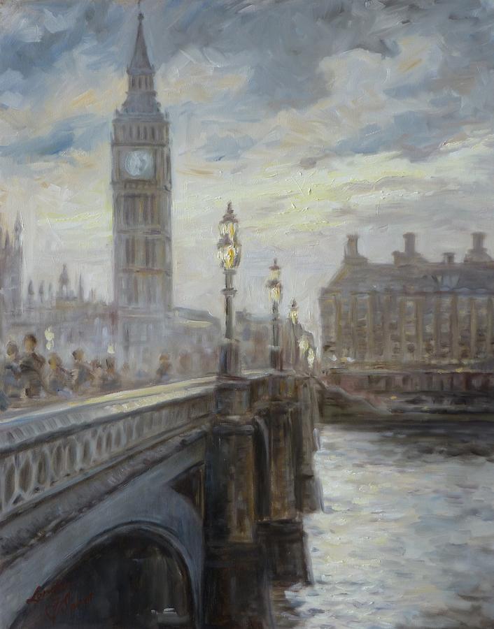 Monet Iphone Wallpaper London Big Ben Painting By Irek Szelag