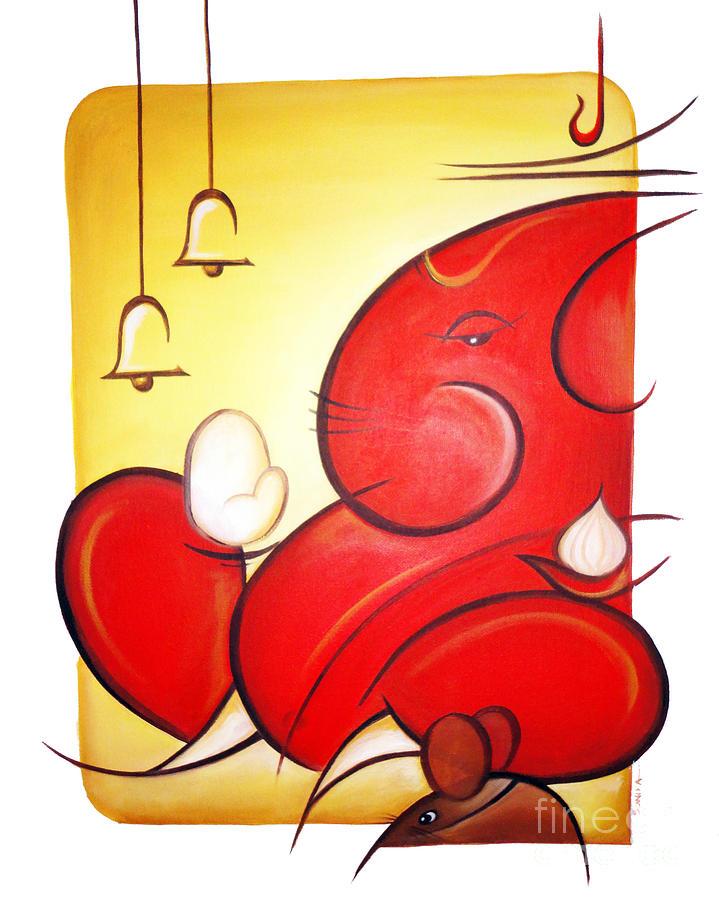 Hamsa Iphone Wallpaper Lord Ganesha Painting By Art N Soul