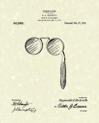 Lorgnette 1917 Patent Art Drawing by Prior Art Design