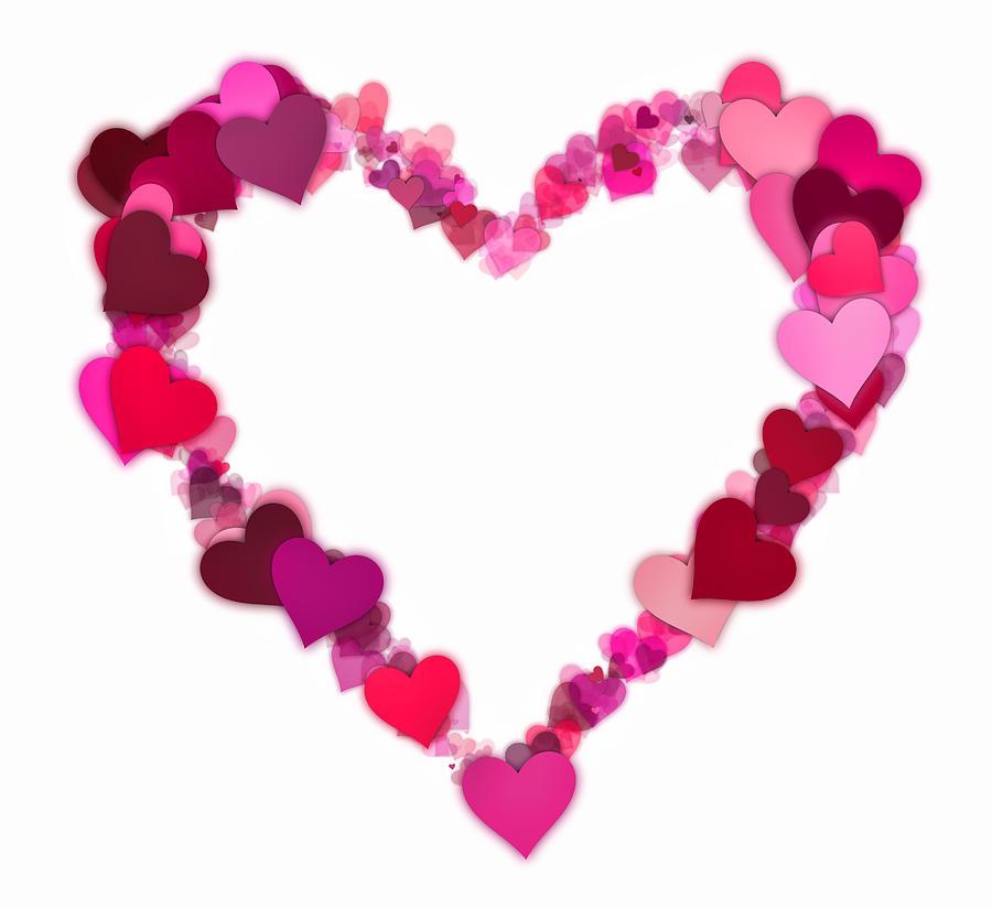 Cute Pattern Iphone 5 Wallpaper Love Heart Digital Art By Daniel Hagerman