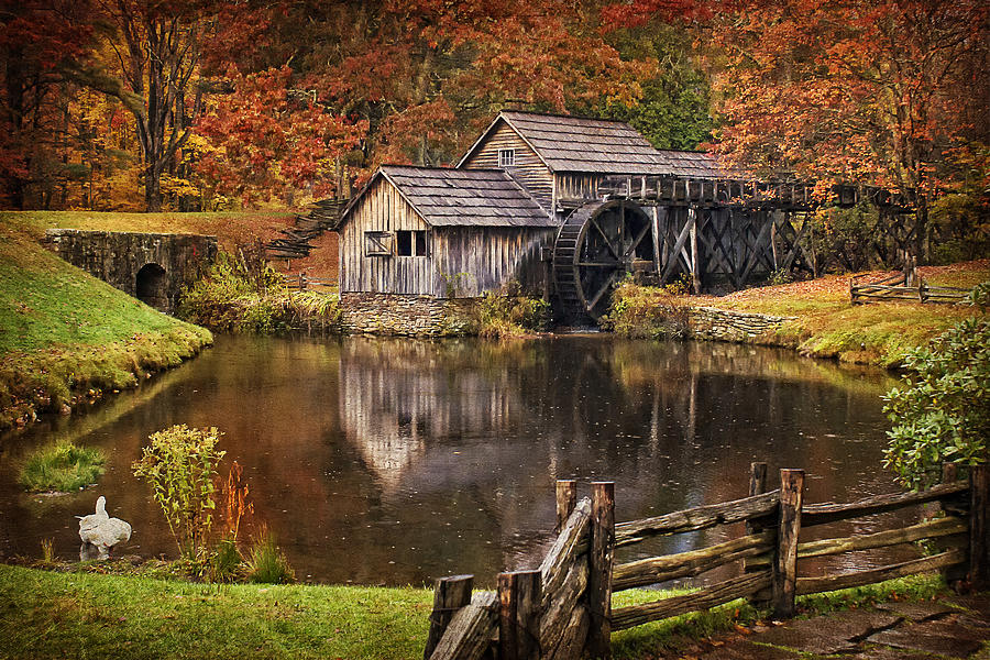 Free Fall Wallpaper For Iphone 5 Mabry Mill Photograph By Priscilla Burgers
