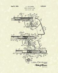 Marble Pistol 1932 Patent Art Drawing by Prior Art Design