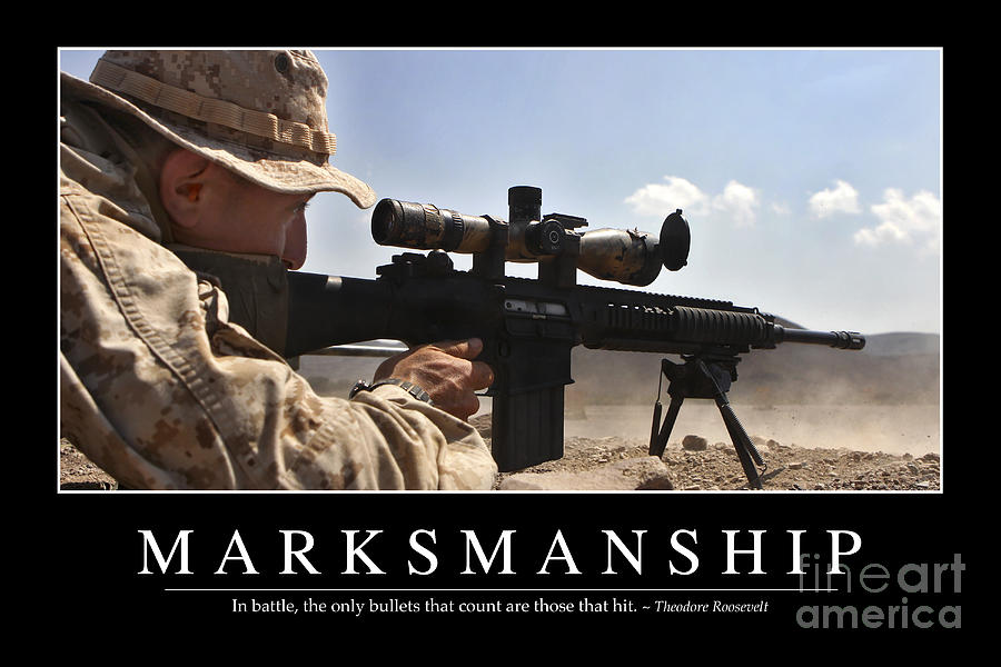 Hunting Iphone Wallpaper Marksmanship Inspirational Quote Photograph By Stocktrek