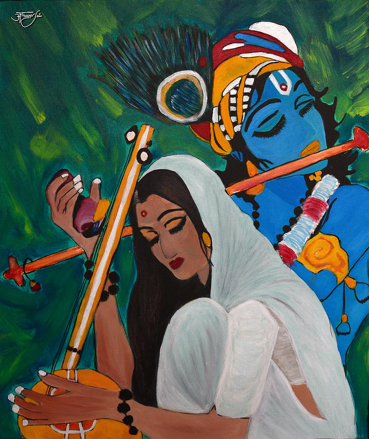 Lord Buddha 3d Live Wallpaper Meera The Eternal Devotee Of Lord Krishna Painting By