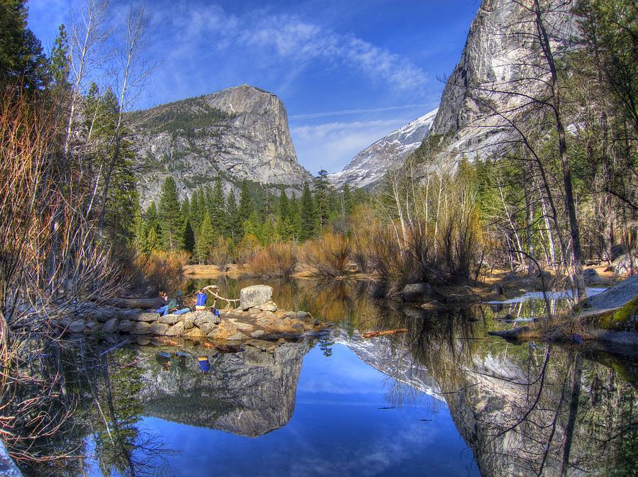 Iphone 6 Plus Fall Wallpaper Mirror Lake Yosemite Autumn Photograph By Eric Mui