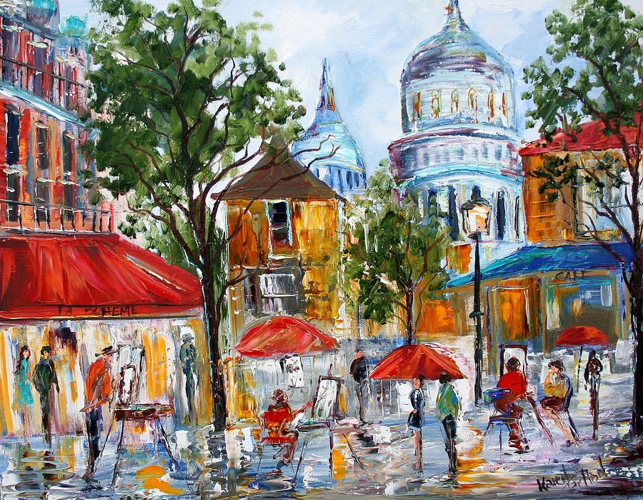 Create Your Own Iphone Wallpaper Online Montmartre Paris Painting By Karen Tarlton