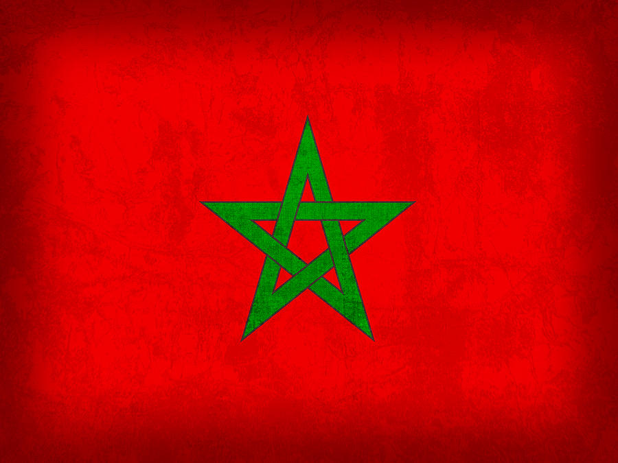 Vintage Iphone Wallpaper Morocco Flag Vintage Distressed Finish Mixed Media By