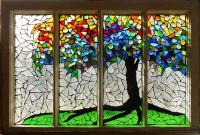 Mosaic Stained Glass - Roots Glass Art by Catherine Van ...