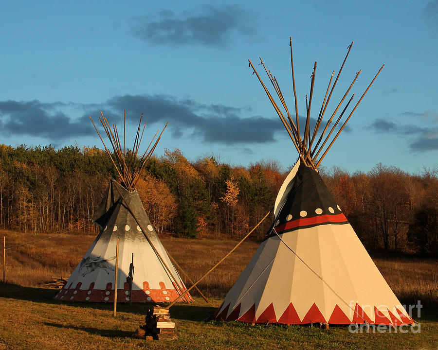 Fall Scenery Iphone Wallpaper Native American Tepee S In Fall Photograph By Deborah Smith