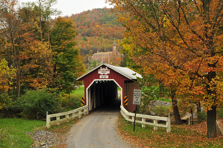 Free Fall Wallpaper For Iphone New Baltimore Covered Bridge Photograph By Dan Myers