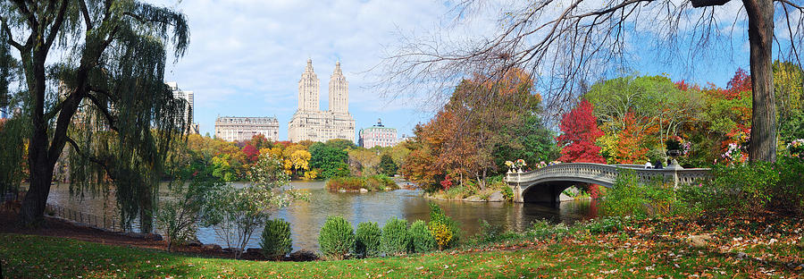 Fall In Central Park Wallpaper New York City Central Park Autumn Panorama Photograph By
