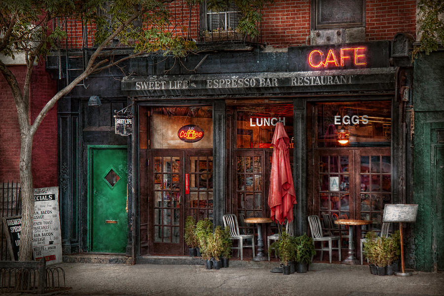 Nyc Iphone Wallpaper New York Store Greenwich Village Sweet Life Cafe