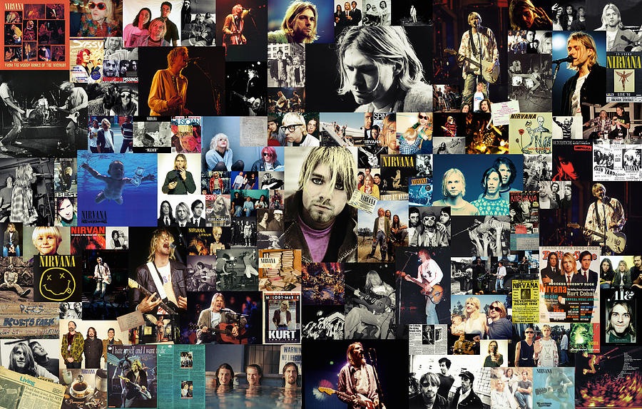 The Beatles Iphone 5 Wallpaper Nirvana Collage Digital Art By Taylan Apukovska