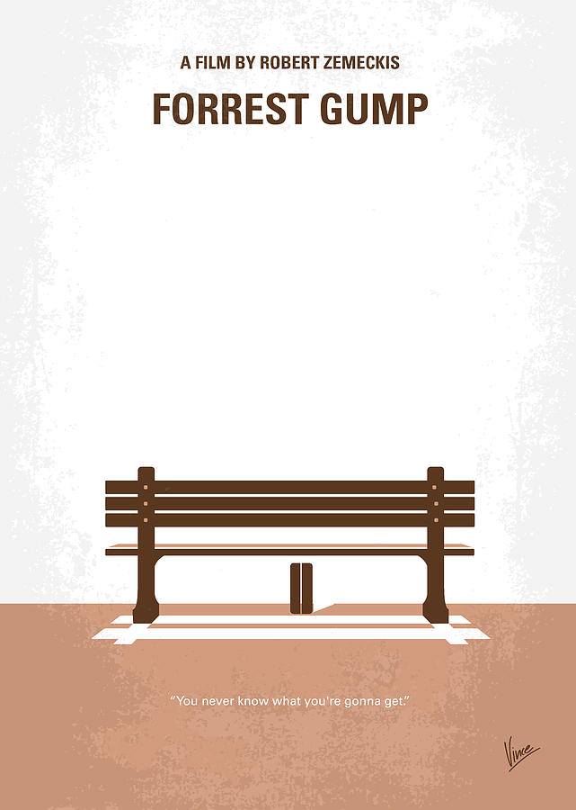 Forrest Gump Quotes Wallpaper No193 My Forrest Gump Minimal Movie Poster Digital Art By