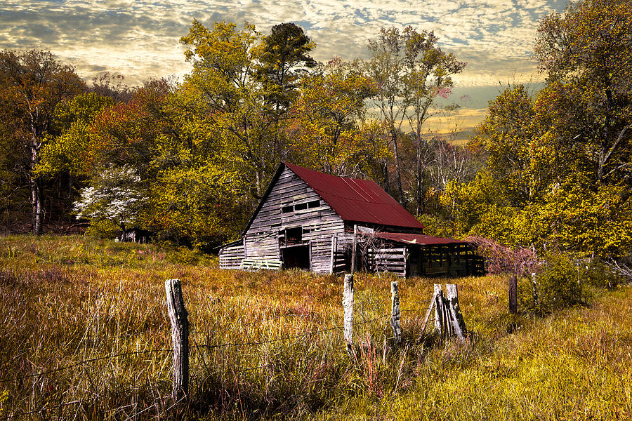 New England Fall Phone Wallpaper Old Barn In Autumn Photograph By Debra And Dave Vanderlaan
