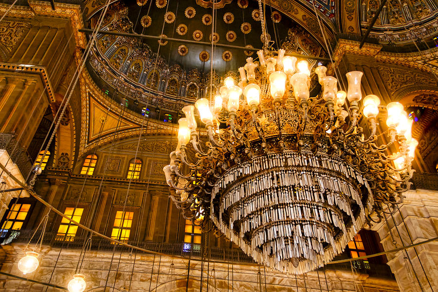 Egypt Pyramids Hd Wallpapers Opulent Interior Of The Alabaster Mosque In Cairo