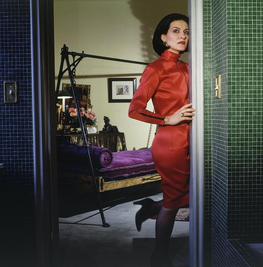Paloma Picasso Paloma Picasso Wearing A Red Dress By Horst P Horst