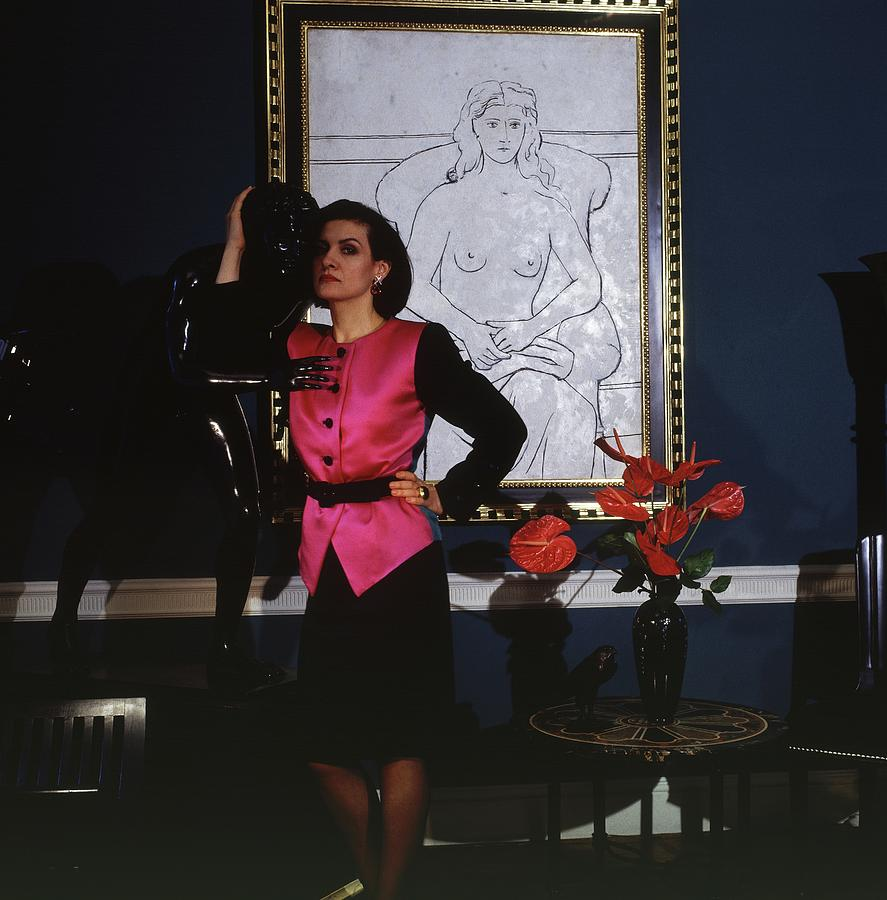 Paloma Picasso Paloma Picasso Wearing A Yves Saint Laurent By Horst P Horst