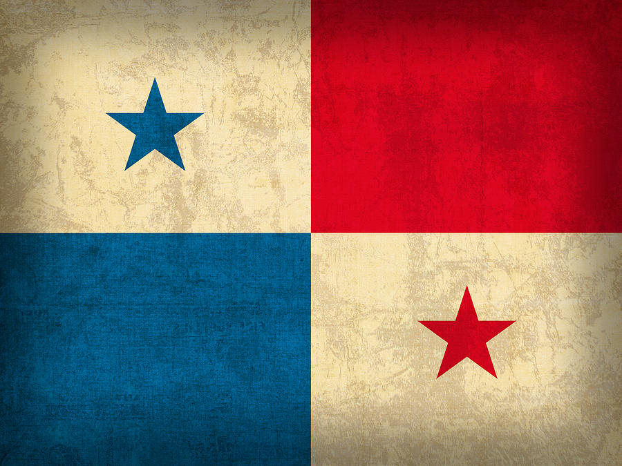 Vintage Iphone Wallpaper Panama Flag Vintage Distressed Finish Mixed Media By