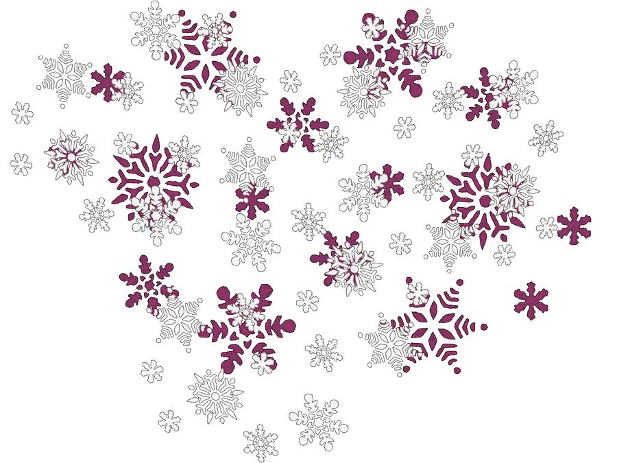 Falling Snow Wallpaper Iphone 5 Pink And White Snowflakes With Transparent Background