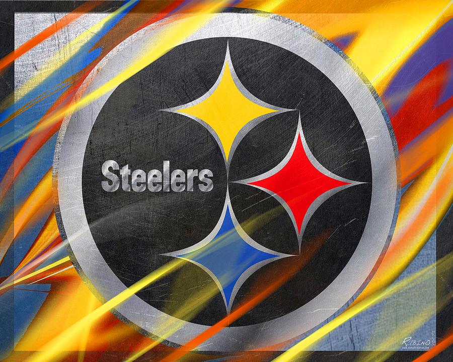 Steelers Girl Iphone Wallpaper Pittsburgh Steelers Football Painting By Tony Rubino