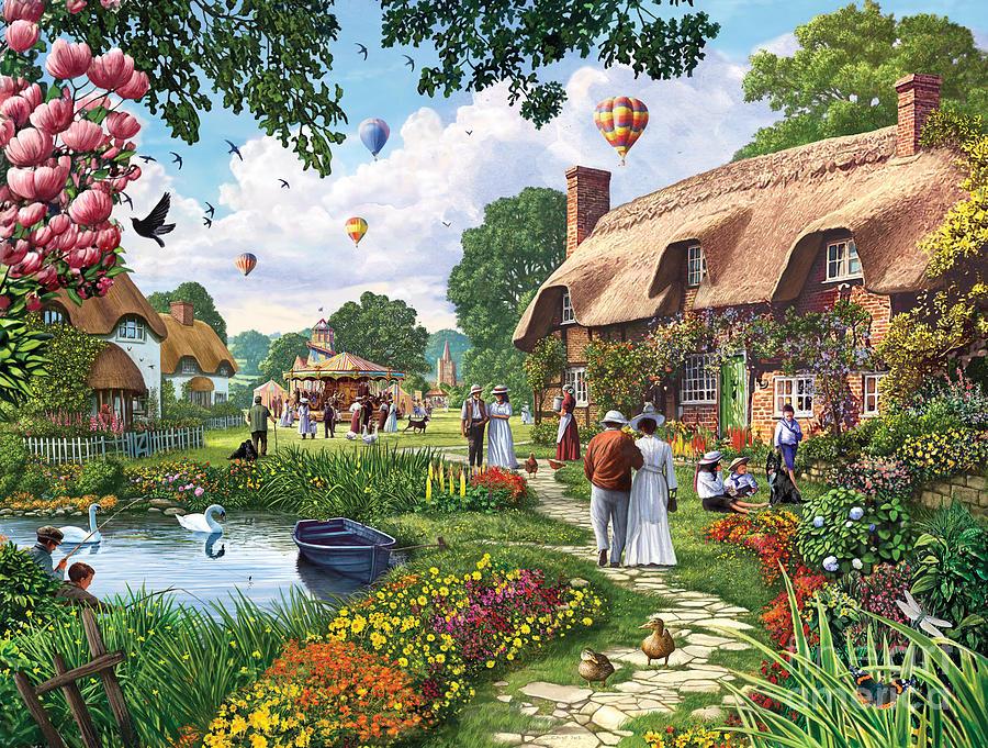 Cute Crisp Wallpapers Pond Cottage Digital Art By Steve Crisp
