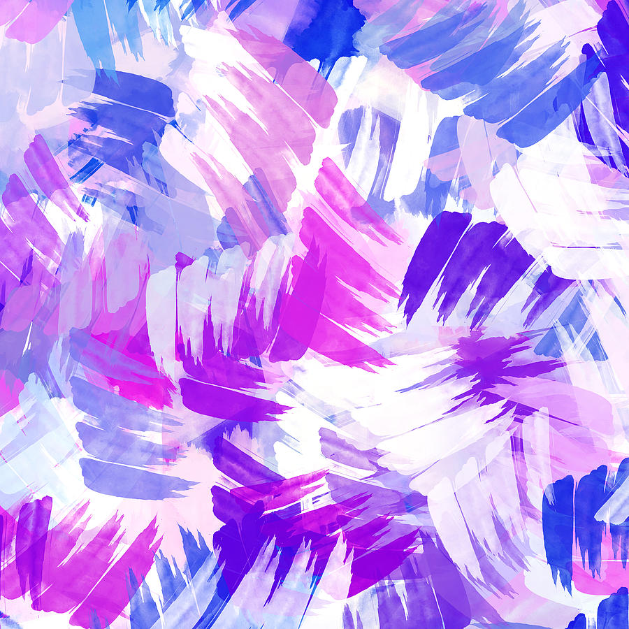Floral Wallpaper For Iphone 5 Purple Abstract Paint Pattern Mixed Media By Christina Rollo